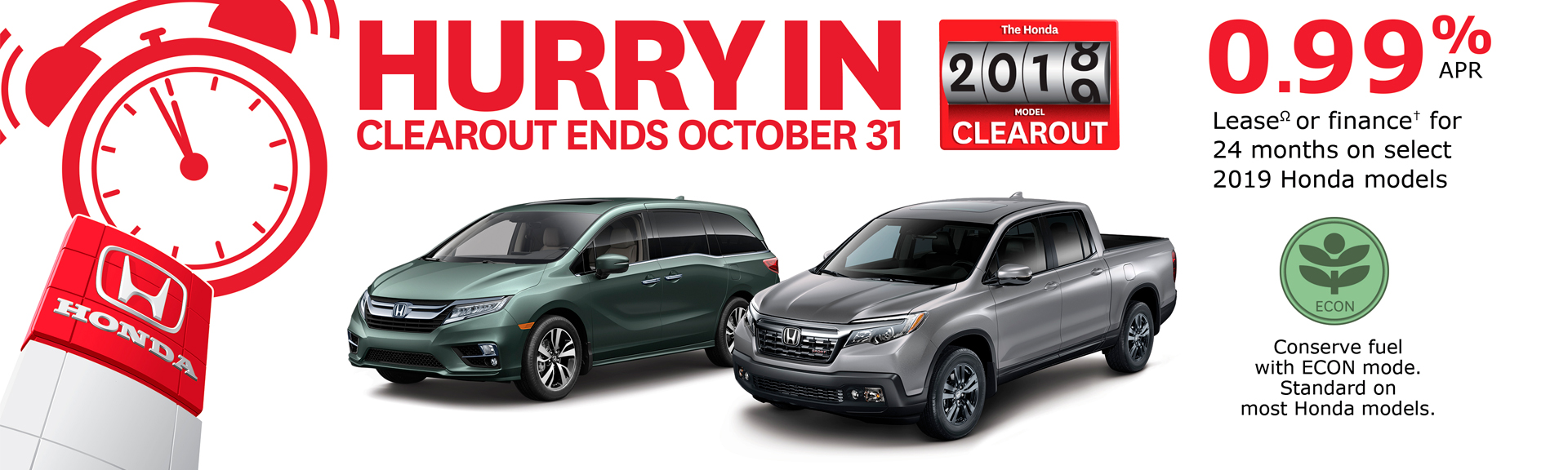 2018 Honda Clearout Rates