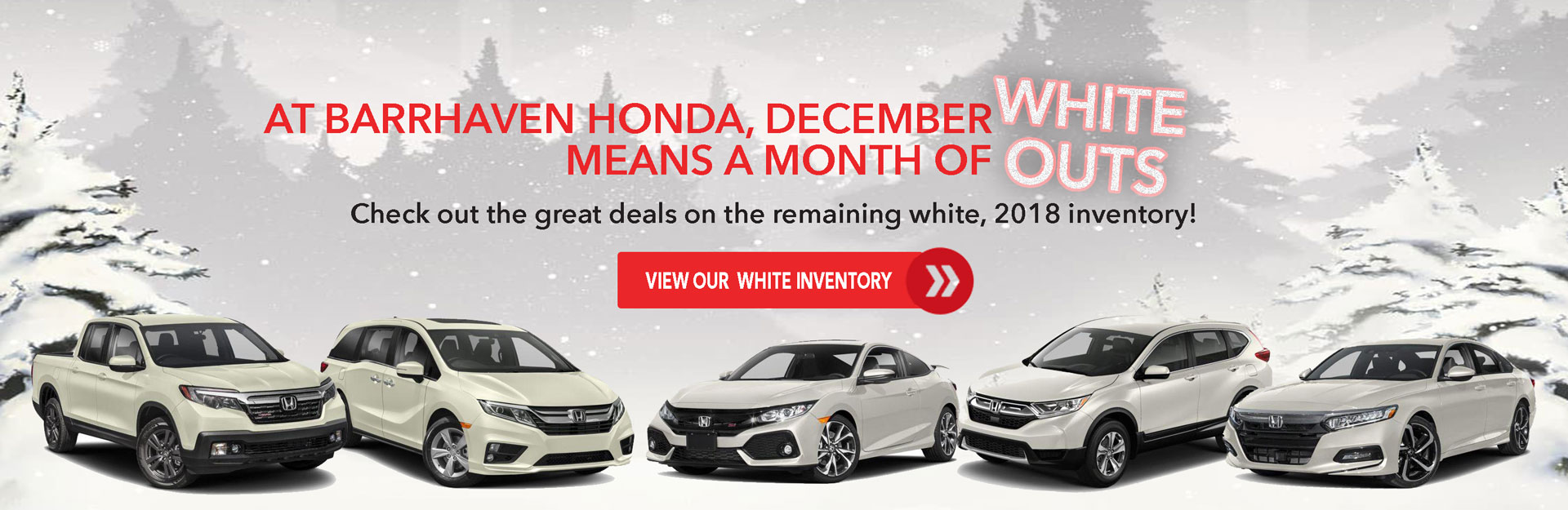 2018 Honda Vehicles for Sale - White Outs