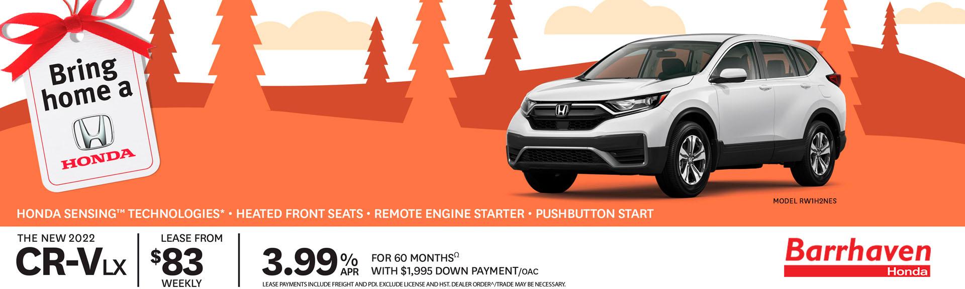 2022 Honda CR-V Promotional Banner