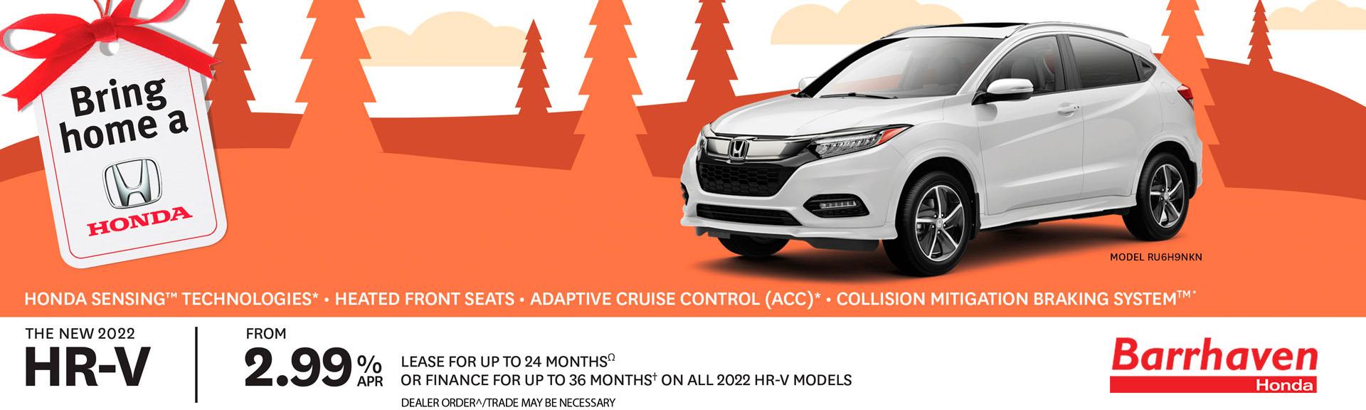 2022 Honda HR-V Promotional Banner